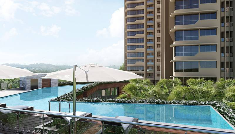 Image of swimming pool of kanakia spaces realty rainforest Swimming pool construction in chennai