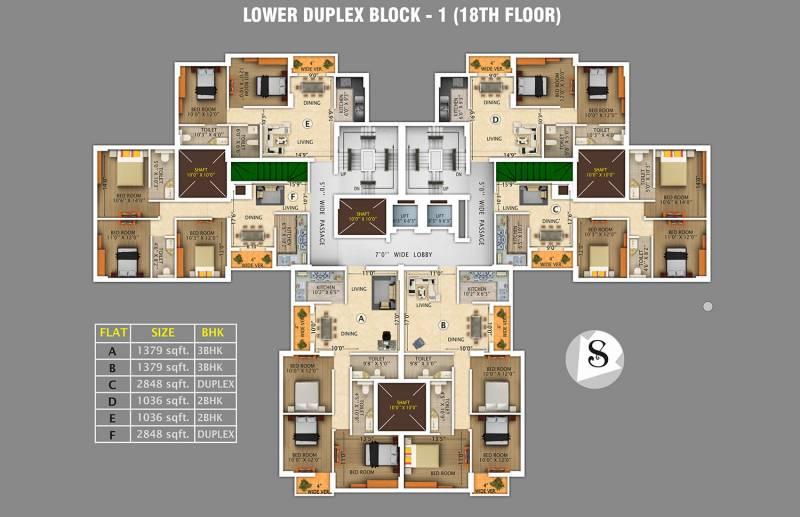 Images for Cluster Plan of Rajwada Royal Gardens