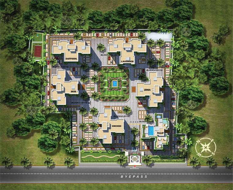 Images for Master Plan of Rajwada Royal Gardens