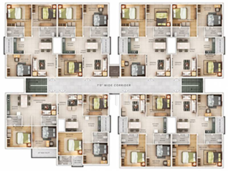 adishakti-construction-&-real-estate shiv-padma-sirenity Shiv Padma Sirenity Cluster Plan from 1st to 5th Floor