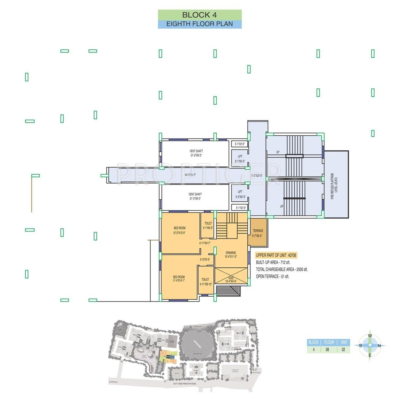 Fort oasis apartment in ballygunge kolkata price for Apartment cluster plans