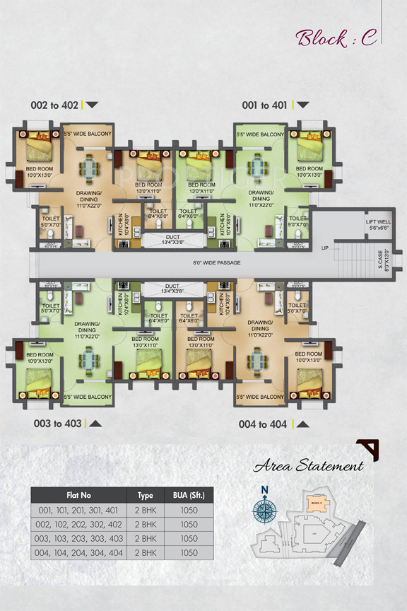 1050 sq ft 2 bhk 2t apartment for sale in basera designs for Apartment design and development ltd