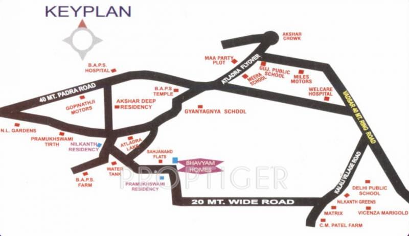 bhavyam-homes Images for Location Plan of Shayona Bhavyam Homes