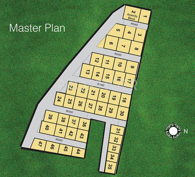 Images for Master Plan of Ieglo Developers Krishna Kuteer White House Phase 2
