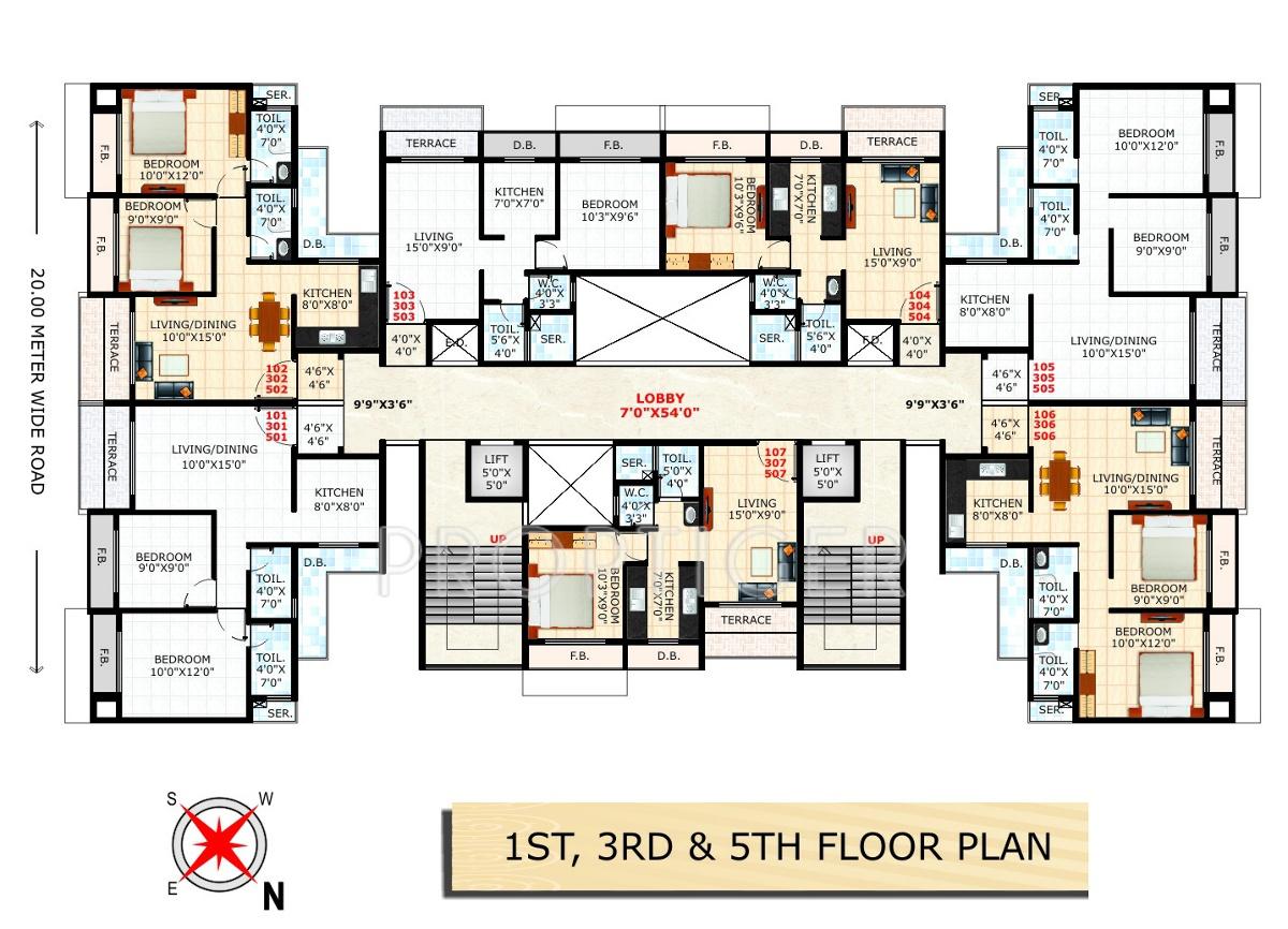 675 sq ft 1 bhk 1t apartment for sale in bathija arjun for 675 sq ft floor plan