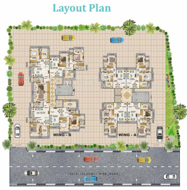 Images for Layout Plan of Geoprenuer Mayur Residencies
