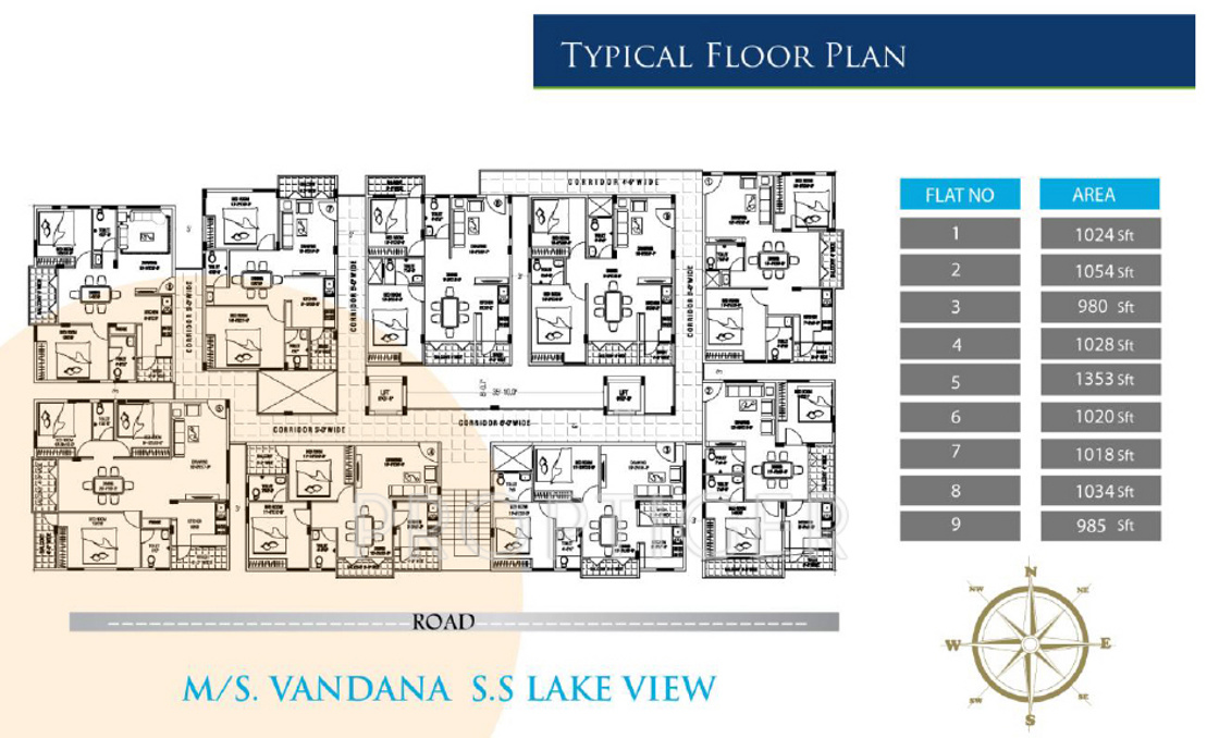 1353 sq ft 3 bhk 2t apartment for sale in vandana for Apartment design development pvt ltd