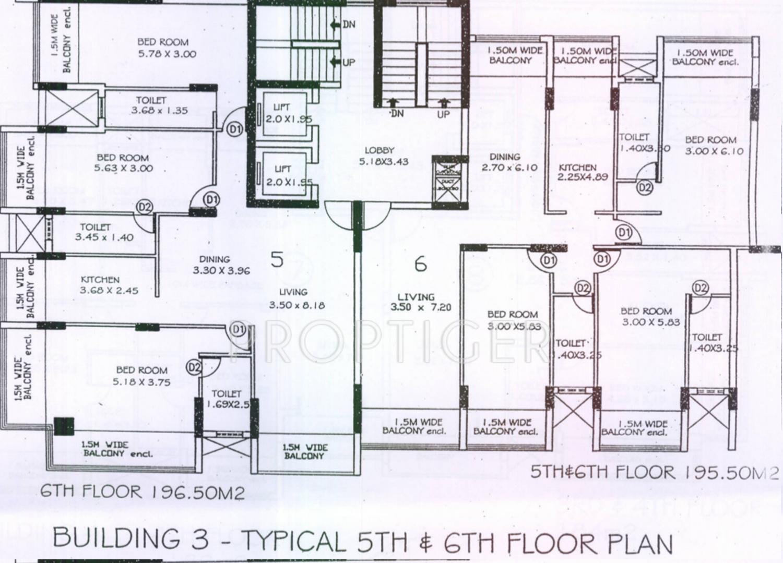 2 3 4 bhk cluster plan image kamat construction pvt ltd marao rh proptiger com Example of Floor Plan Layout Restaurant Layout Floor Plan