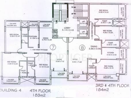 1469 sq ft 2 bhk 2t apartment for sale in kamat for Apartment complex building plans