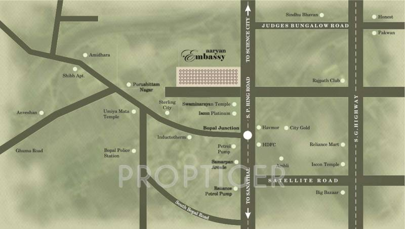 embassy Images for Location Plan of Aaryan Embassy