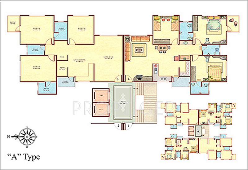 1300 Sq Ft 2 Bhk 2t Apartment For Sale In Happy Home Group