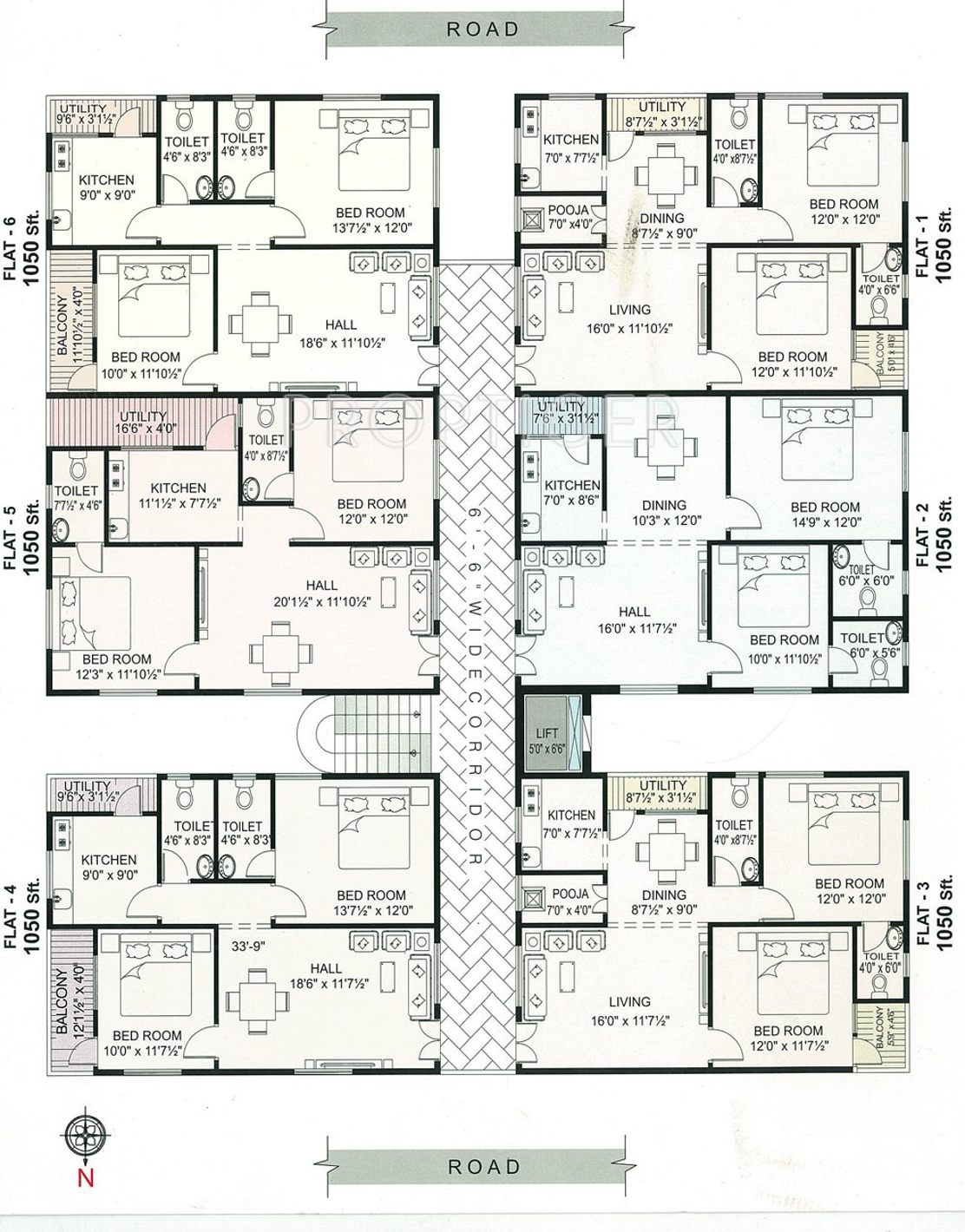 1050 sq ft 2 bhk 2t apartment for sale in rajagopal for 1050 sq ft floor plans