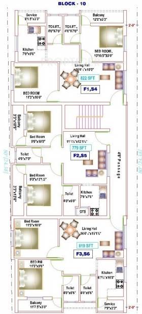 yogi-builders merinaa Block 10 Cluster Plan from 1st to 2nd Floor