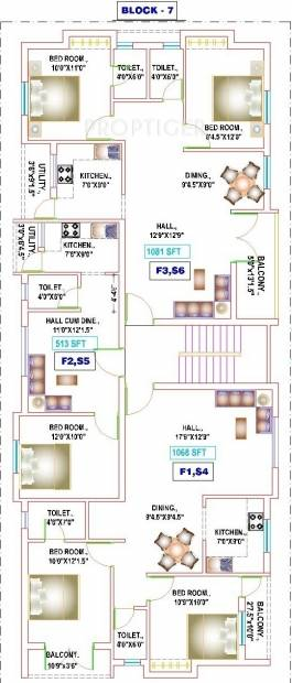 yogi-builders merinaa Block 7 Cluster Plan from 1st to 2nd Floor