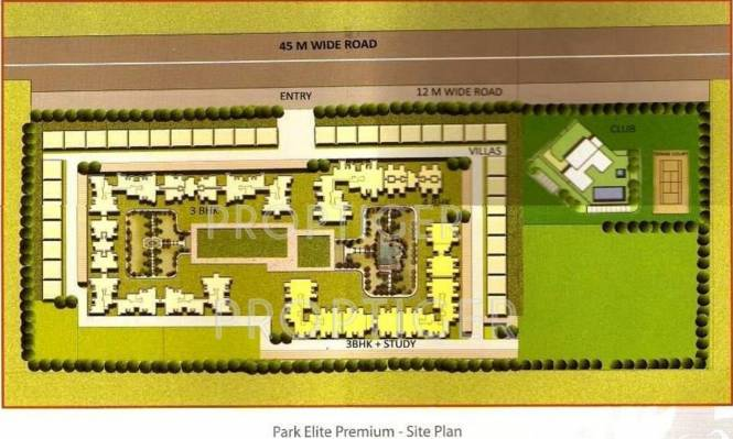 Images for Site Plan of BPTP Park Elite Premium Villa