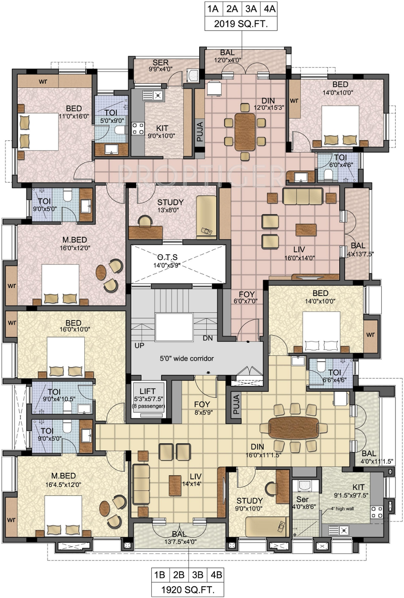 1920 sq ft 3 bhk 3t apartment for sale in lcs city natraj for 1920 floor plans