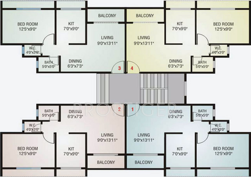 900 sq ft 2 bhk 2t apartment for sale in neelsidhi vinayak for 900 sq ft apartment floor plan