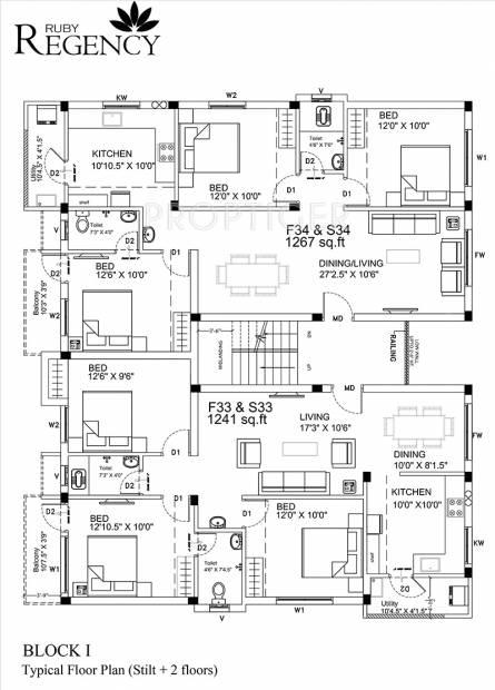 Images for Cluster Plan of Ruby Regency
