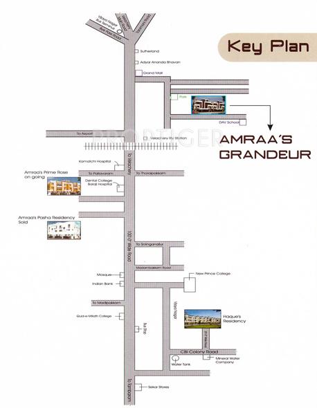 amraa-properties grandeur Location Plan