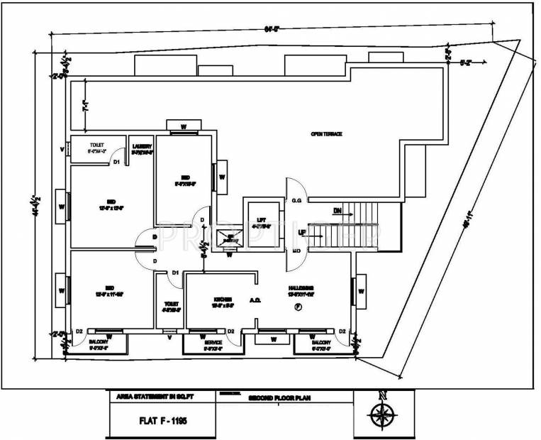 Images for Cluster Plan of Revathy Anush Apartment