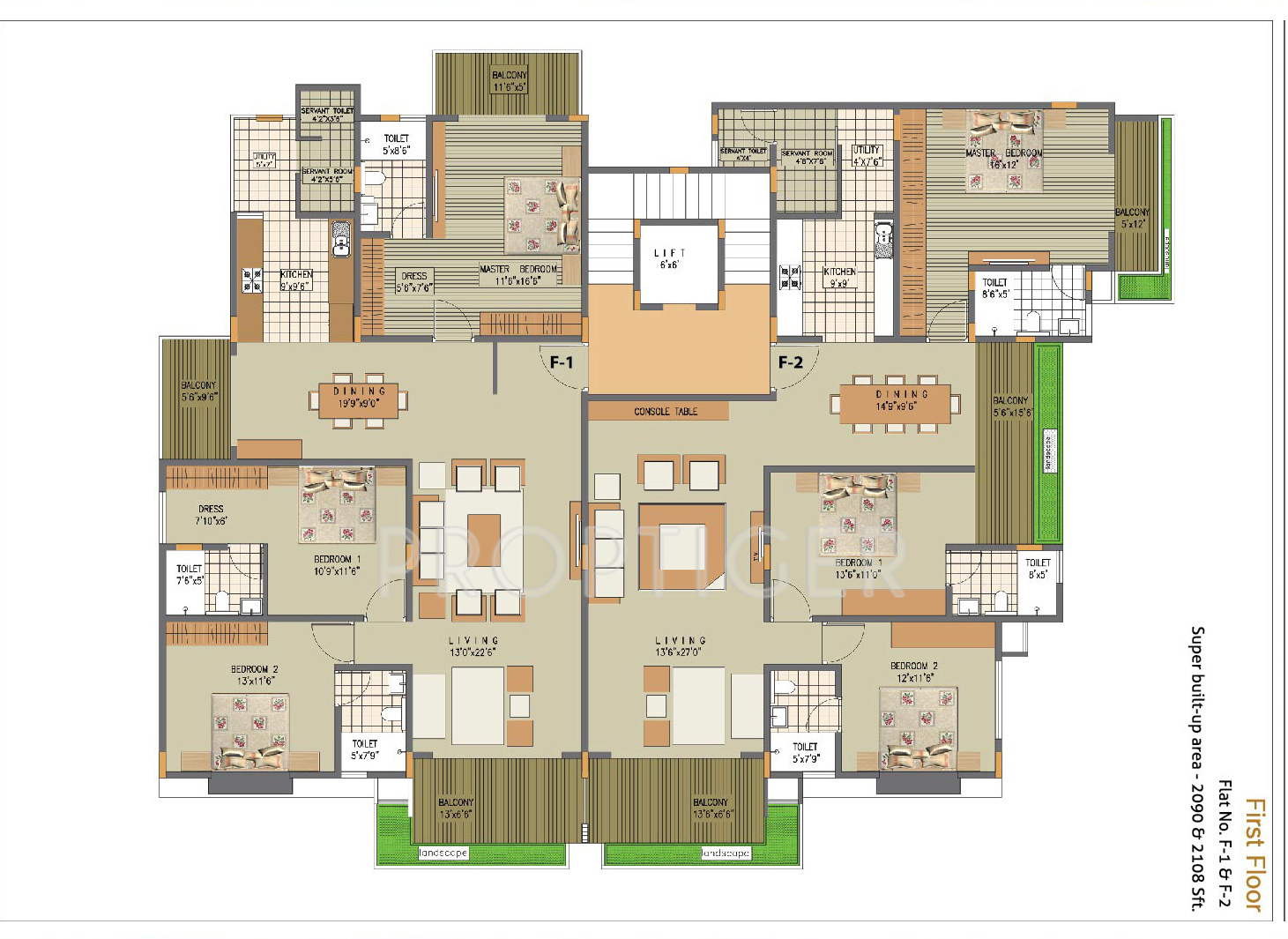 2090 sq ft 3 bhk 3t apartment for sale in zaffars sterling for Sterling plan