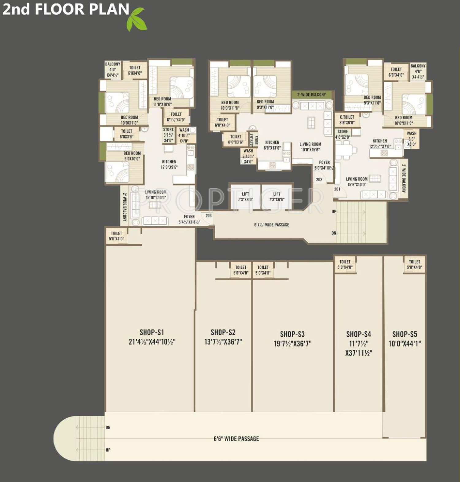 1940 sq ft 3 bhk 3t apartment for sale in universal for Universal design floor plans