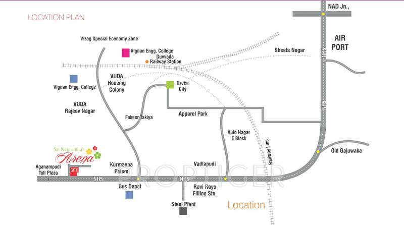 Images for Location Plan of  Narasimhas Arena