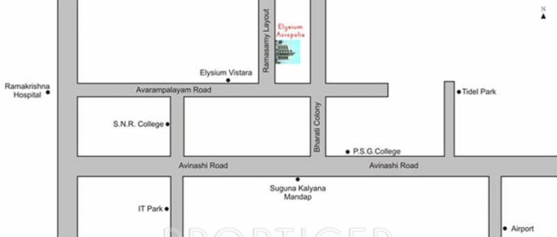 Image of Location Map of Elysium Acropolis Peelamedu