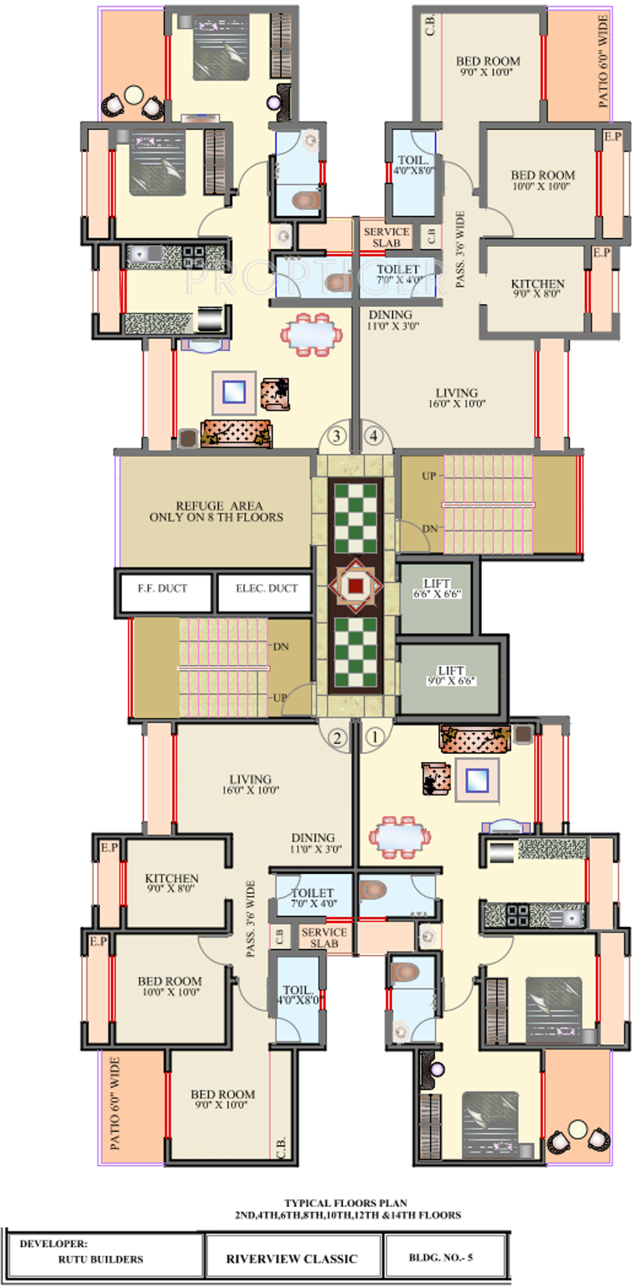 675 sq ft 1 bhk 1t apartment for sale in rutu riverview for 675 sq ft floor plan