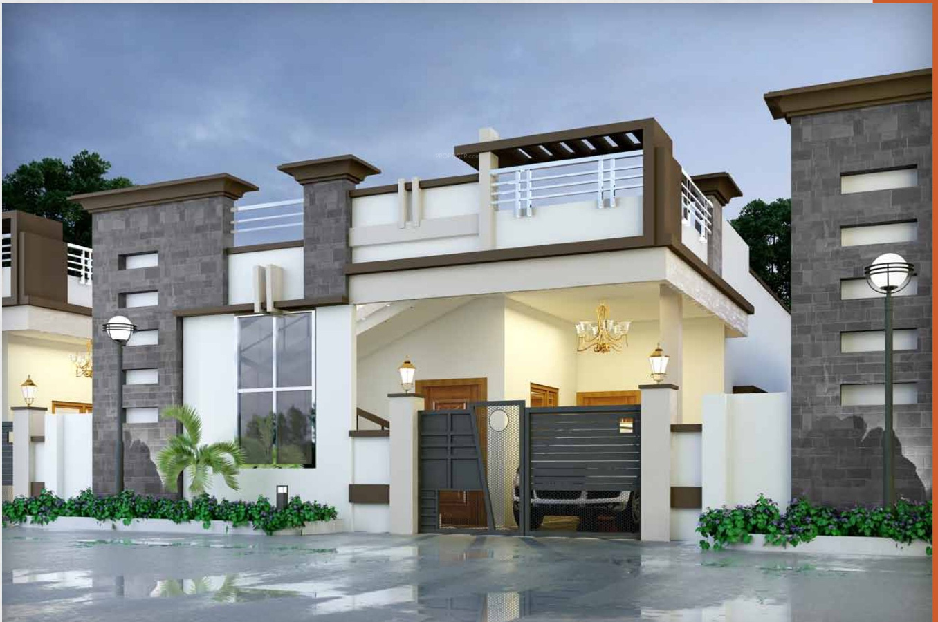 N Home Elevation Jobs : Main elevation image of dream india monarch unit