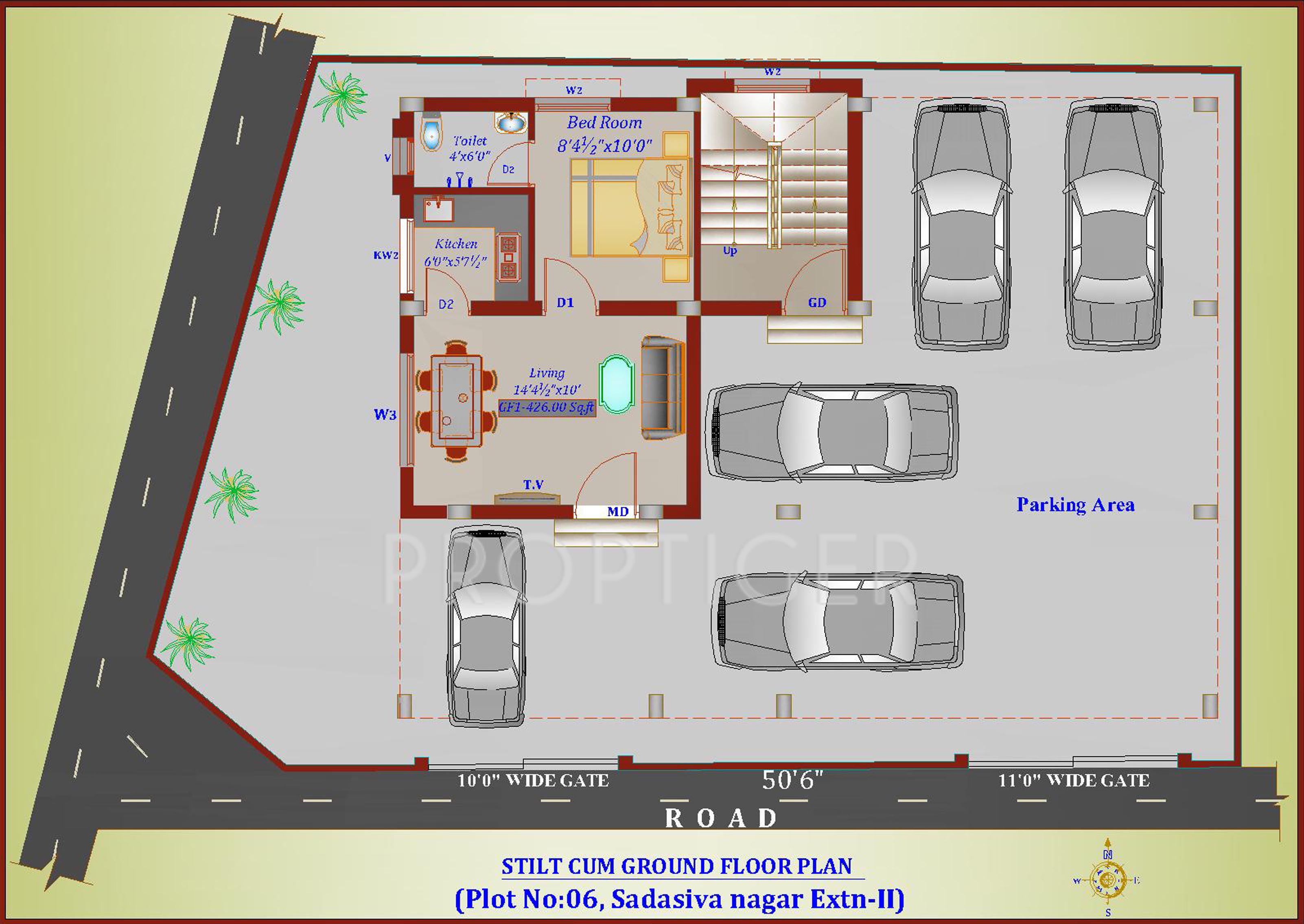 426 sq ft 1 bhk 1t apartment for sale in chennai estates for Apartment plans chennai
