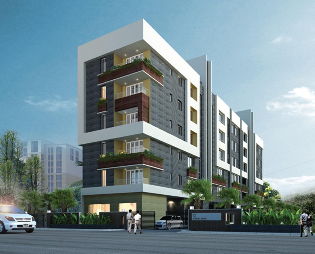 3 Floor Apartment Elevation : Bhk cluster plan image tirumala group tiru casa for