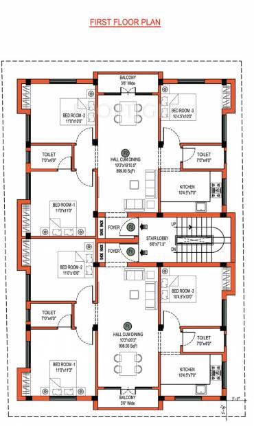 images for cluster plan of jkb sri guna - Jkb Homes Floor Plans