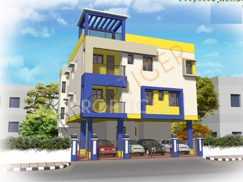 Images for Elevation of Thilaga Constructions Periyar Blue