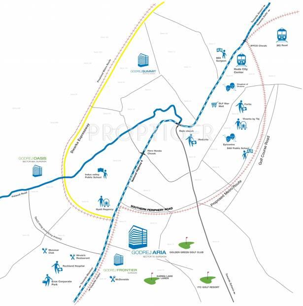 aria Images for Location Plan of Godrej Aria