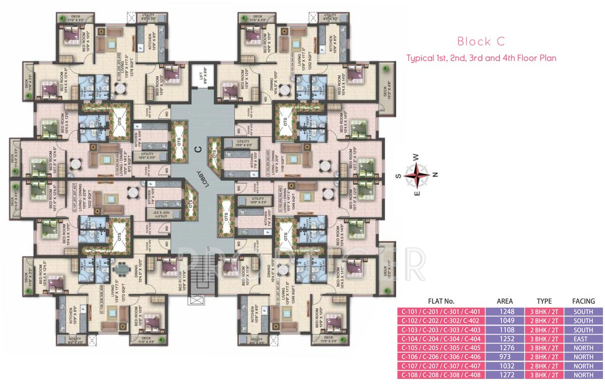 1049 sq ft 2 bhk 2t apartment for sale in colorhomes berry