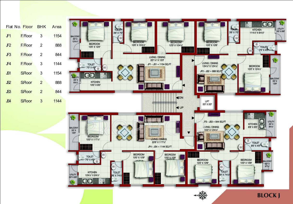 625 Sq Ft 1 Bhk 1t Apartment For Sale In Colorhomes