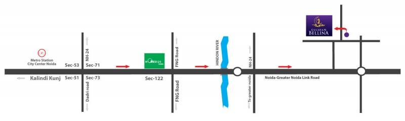 bellina Images for Location Plan of Gulshan Bellina