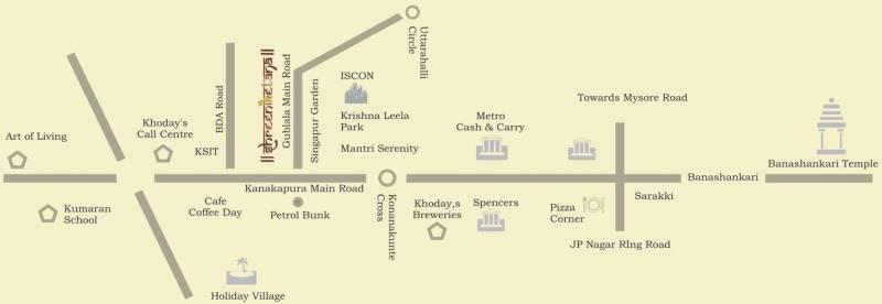pnr-group shreeniketana Location Plan