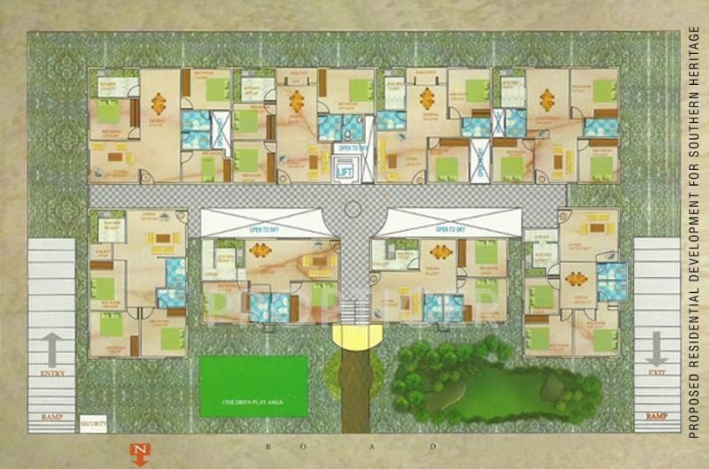 southern-heritage-builders springs Springs Cluster Plan for ground Floor