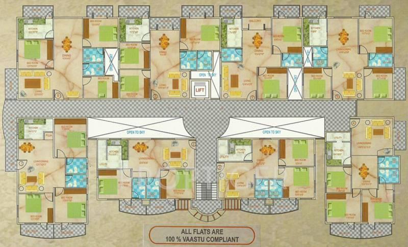 southern-heritage-builders springs Springs Cluster Plan Typical Floor Plan