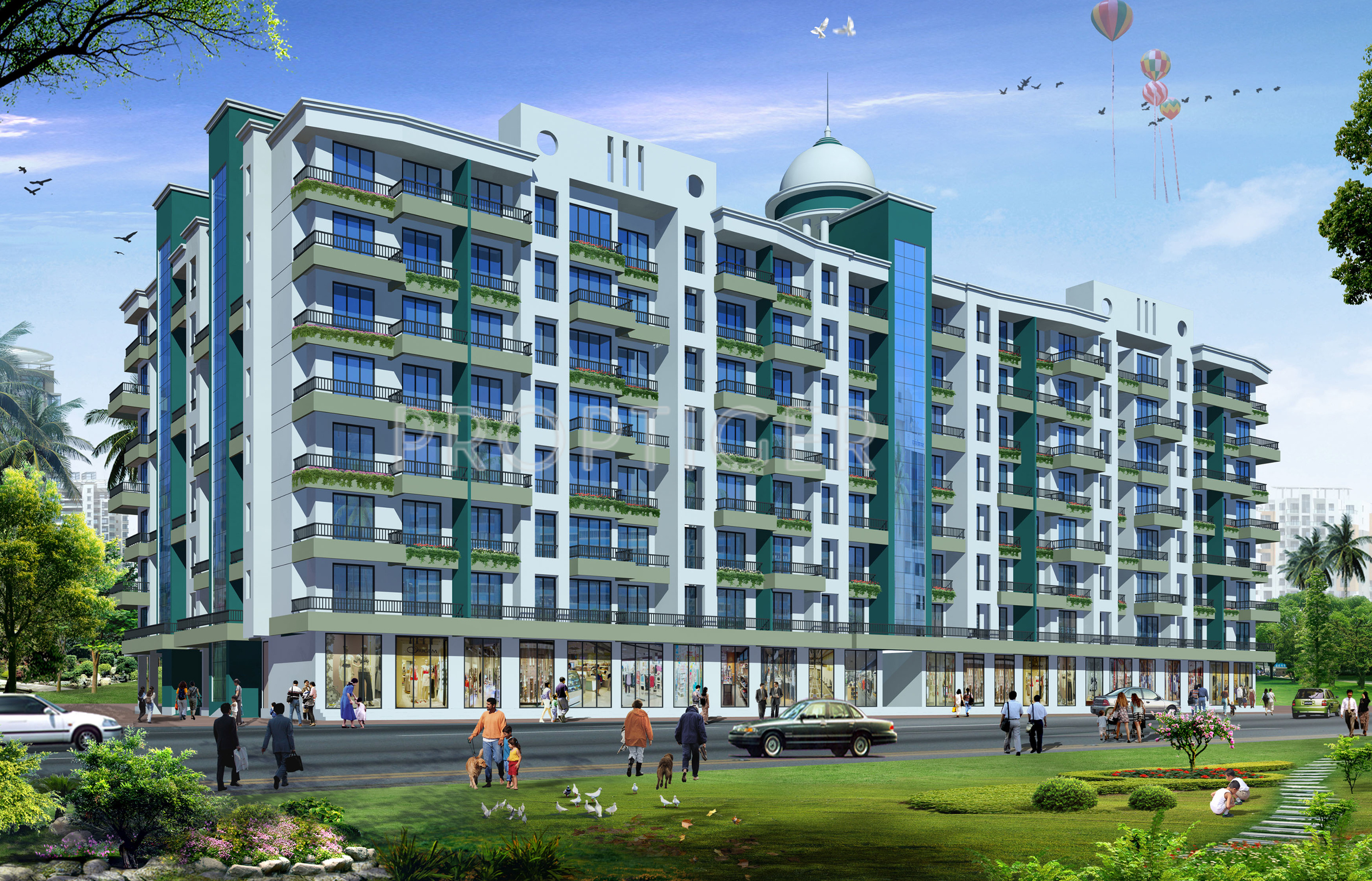 970 sq ft 2 BHK 2T Apartment for Sale in Dange Group Complex Nala ...