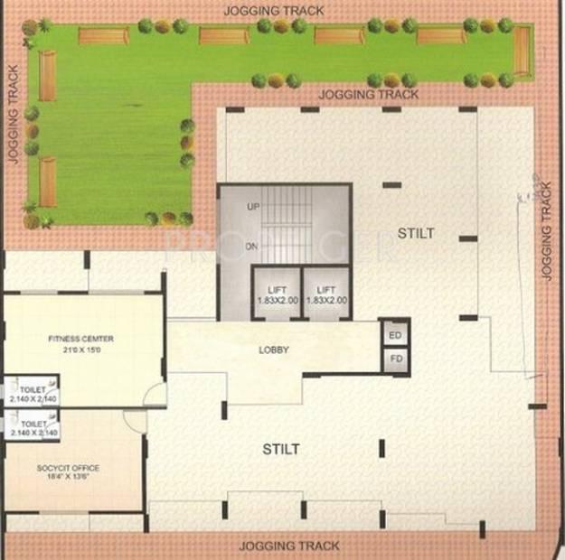 krishna-tower Images for Cluster Plan of Giriraj Krishna Tower