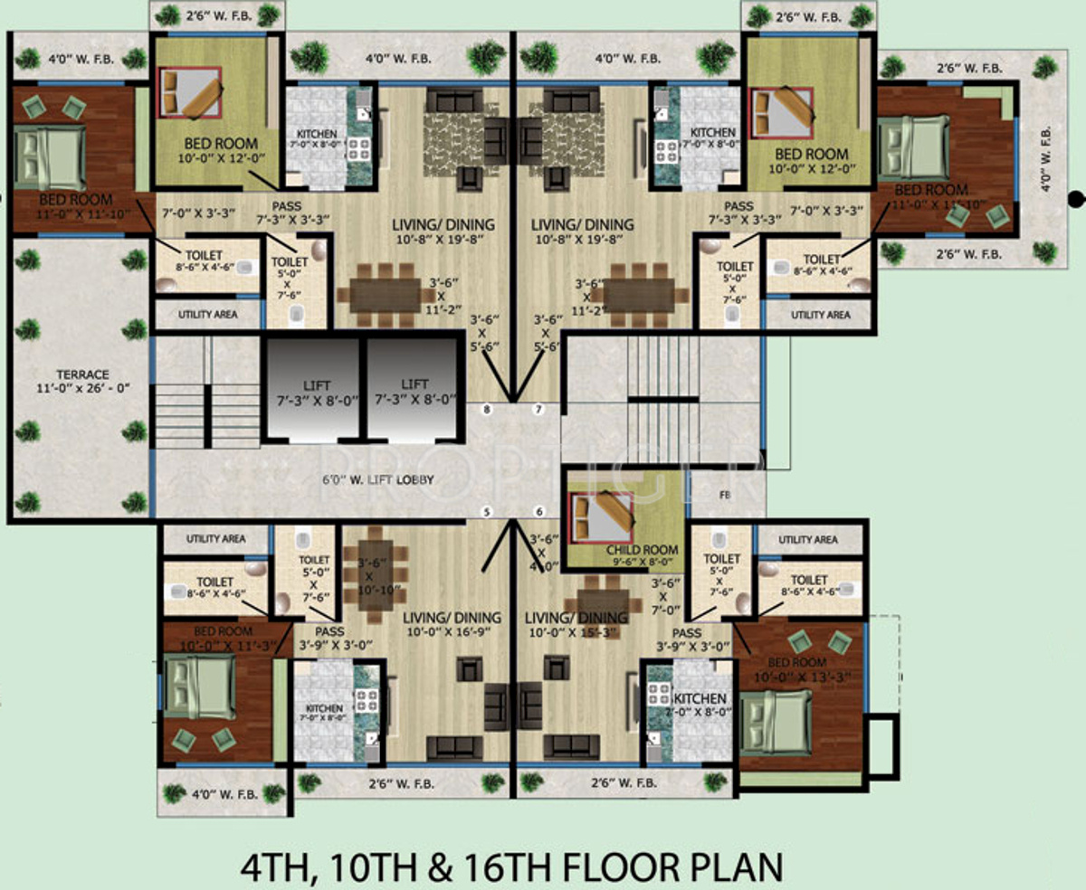 770 Sq Ft 1 Bhk 1t Apartment For Sale In Vision Developers