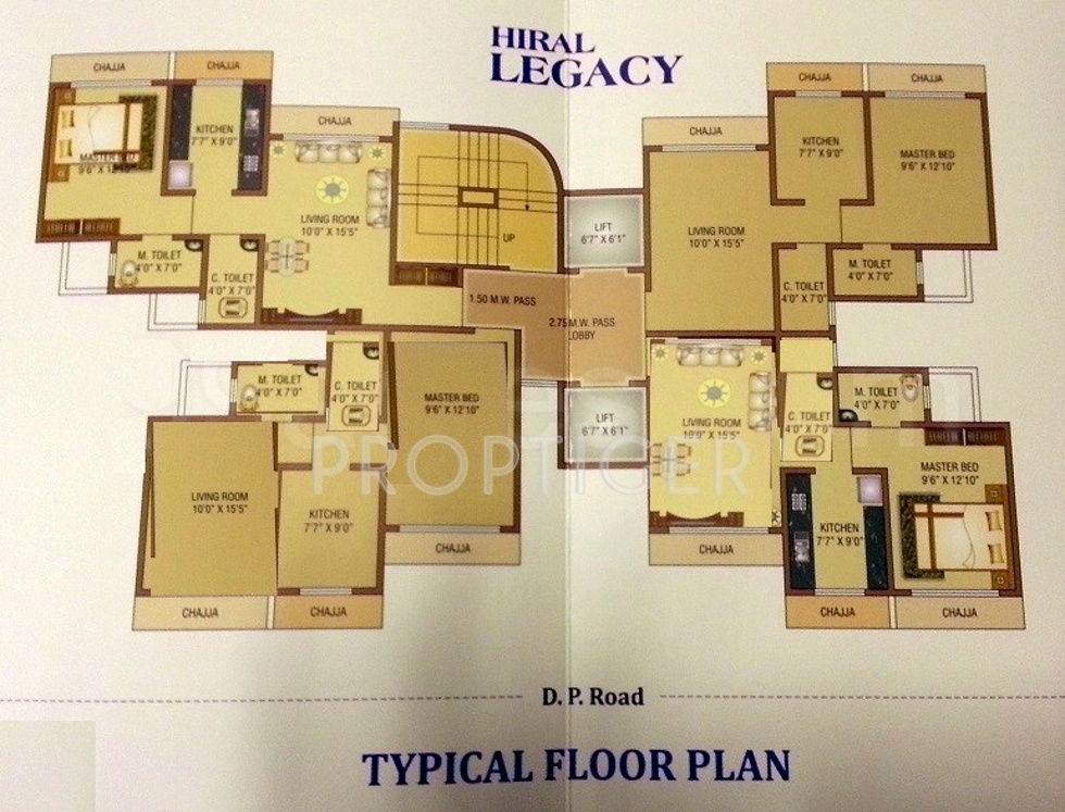 700 Sq Ft 1 Bhk 2t Apartment For Sale In Hiral Homes