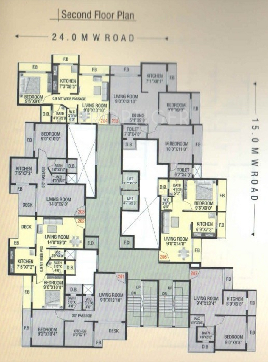 1100 sq ft 2 bhk 2t apartment for sale in radhe krishna for 1100 sq ft apartment floor plan