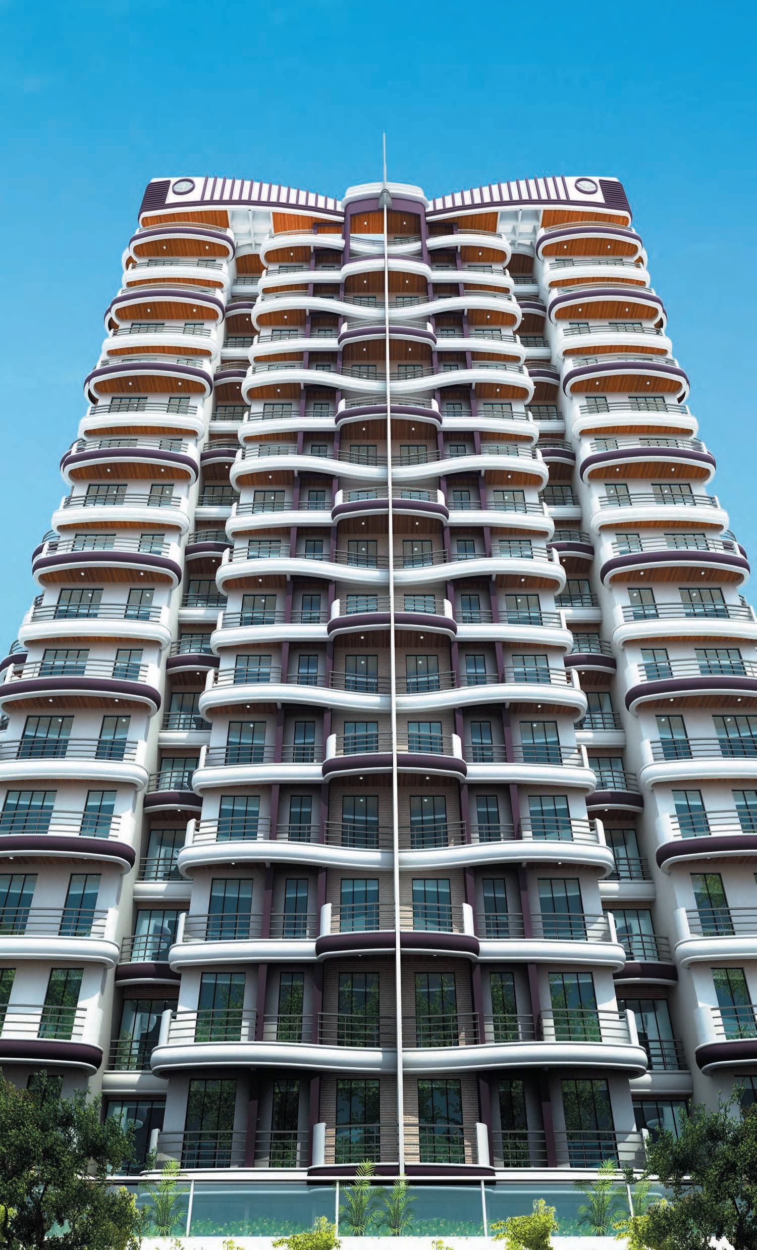 Elevation Plan Door : Paradise sai wonder in kharghar mumbai price location