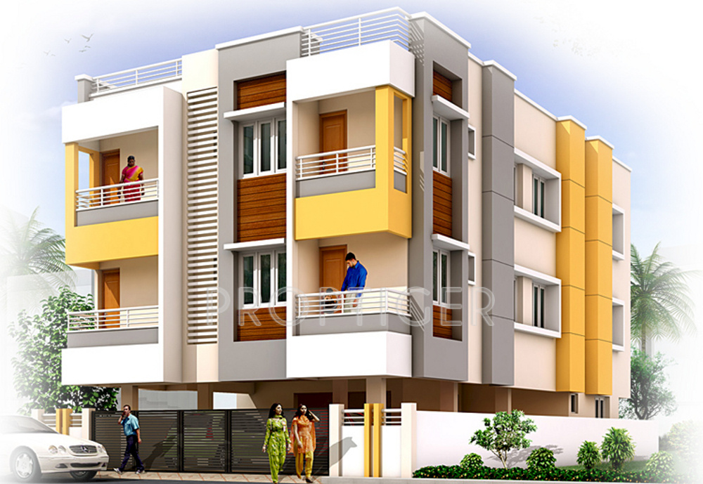 Sapthagiri sudharsana apartment in mugalivakkam chennai for Apartment plans and elevations