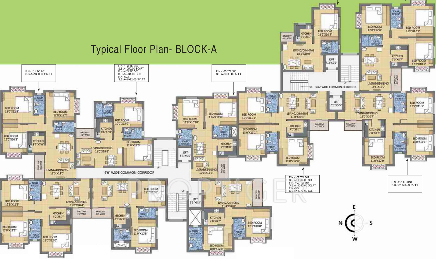 1052 sq ft 2 bhk 2t apartment for sale in panda infratech for Banes planning