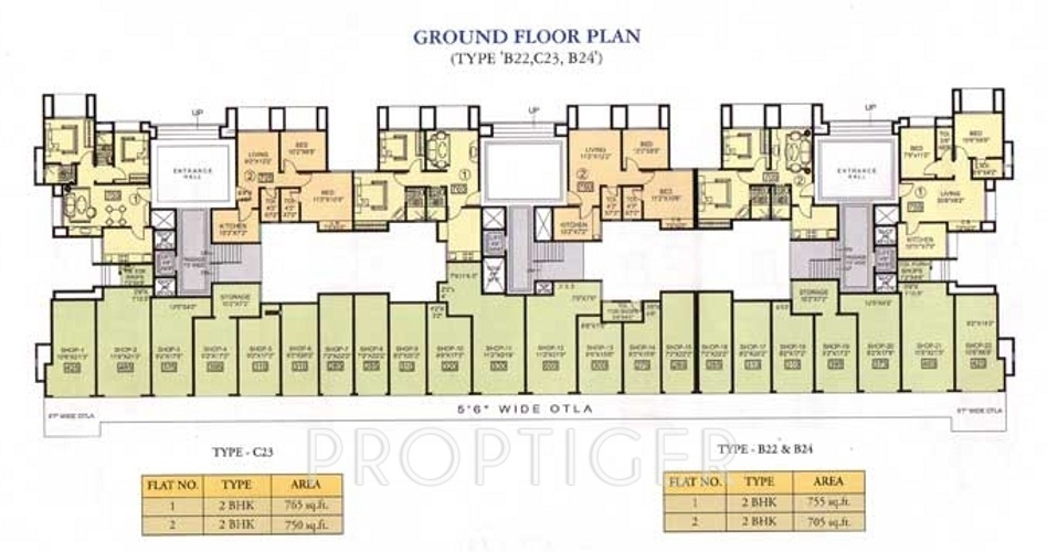 705 sq ft 2 bhk 2t apartment for sale in rna corp broadway for Broadway plan